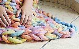 """Úžitkový textil - Chunky detská deka """"Rainbow"""" - 100 % pravá Merino vlna - 9782279_"""