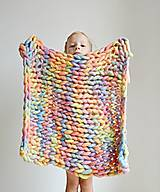 """Úžitkový textil - Chunky detská deka """"Rainbow"""" - 100 % pravá Merino vlna - 9782280_"""