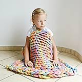 """Úžitkový textil - Chunky detská deka """"Rainbow"""" - 100 % pravá Merino vlna - 9782281_"""