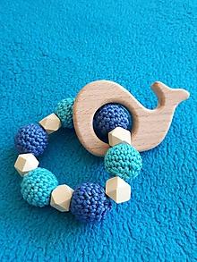 Hračky - Hryzátko veľrybka - 9783125_