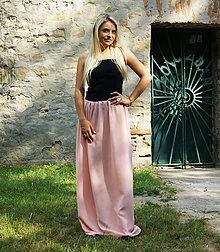 Sukne - MAXI šifónová sukňa marhuľová - 9782458_