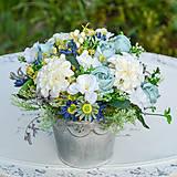 Modrá dekorácia na stôl