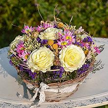 Dekorácie - Košík s ružami - 9781569_