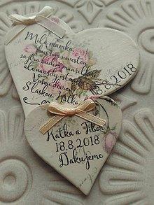 Darčeky pre svadobčanov - poďakovanie pre rodičov magnetka - 9781669_