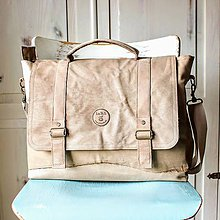 Veľké tašky - Kožená retro brašňa - 9783065_
