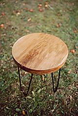 Nábytok - Kruhový konferenčný stolík s čiernymi kovovými nožičkami - 9782740_