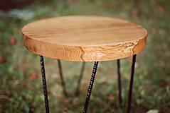 Nábytok - Kruhový konferenčný stolík s čiernymi kovovými nožičkami - 9782751_