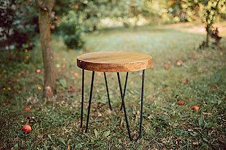 a1b16c9059 Nábytok - Kruhový konferenčný stolík s čiernymi kovovými nožičkami -  9782738