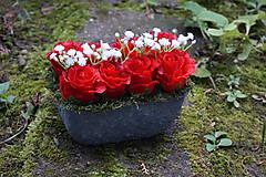 Dekorácie - Červené ruže - 9783559_