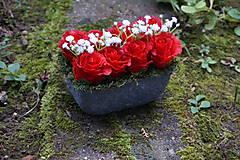 Dekorácie - Červené ruže - 9783560_