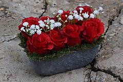 Dekorácie - Červené ruže - 9783562_