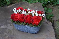 Dekorácie - Červené ruže - 9783589_