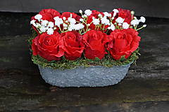 Dekorácie - Červené ruže - 9783591_
