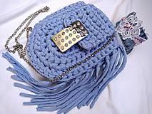 háčkovaná kabelka - blue BOHO crossbody
