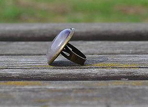 Prstene - Ametyst prsteň v starobronze - 9783534_