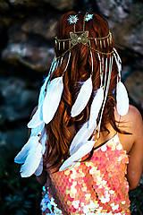 Ozdoby do vlasov - Festivalová čelenka s kameňmi - 9783663_