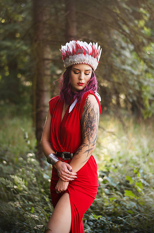 Červená prírodná indiánka