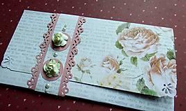 Papiernictvo - ružová záhrada - darčeková obálka - 9782325_
