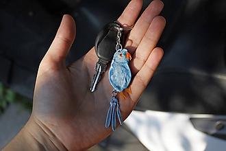 Kľúčenky - Psittacula krameri - kľúčenka - 9784189_