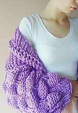 Svetre/Pulóvre - Bubble cardigan-purple - 9785155_