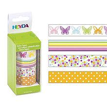 Iný materiál - Deko páska motýle 4 ks. - 9785512_