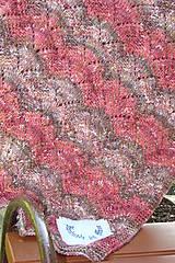 Textil - Ručne pletená detská deka  do kočíka - 9786304_