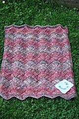 Textil - Ručne pletená detská deka  do kočíka - 9786305_