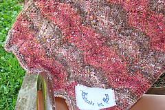 Textil - Ručne pletená detská deka  do kočíka - 9786306_