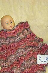 Textil - Ručne pletená detská deka  do kočíka - 9786308_