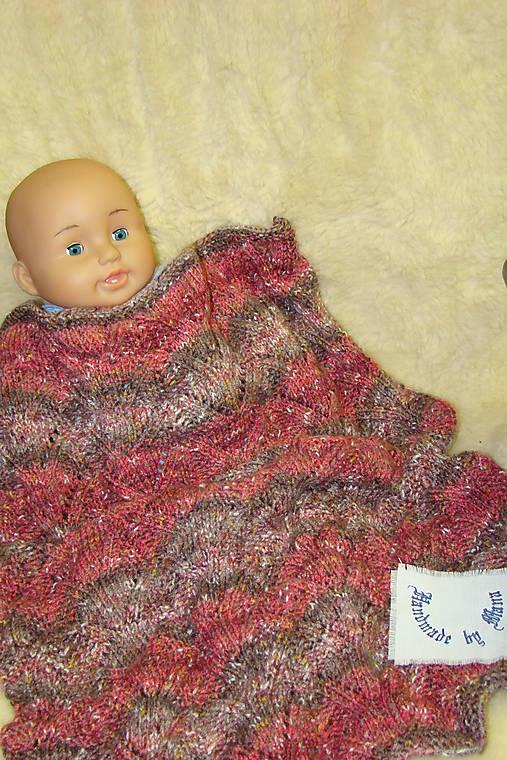 Ručne pletená detská deka  do kočíka