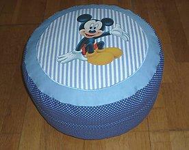 Úžitkový textil - Detský (pod)sedák - puf s obliečkou dva varianty (modrý 1) - 9786245_