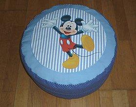 Úžitkový textil - Detský (pod)sedák - puf s obliečkou dva varianty (modrý 2) - 9786249_