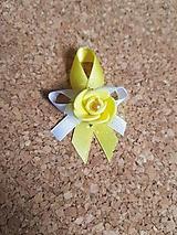 Pierka - pierko so žltou ružou - 9784806_