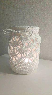 Svietidlá a sviečky - Lucernička háčkovaná - vintage - 9784519_