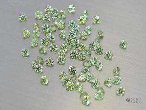 Minerály - DÉMANTOID prírodný okrúhly 2,5 mm - 9784962_