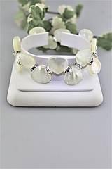 perleť lístky náramok svadobný luxusný