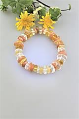 Náramky - citrín,slnečný kameň a horský krištál energetický náramok slnečný - 9785897_