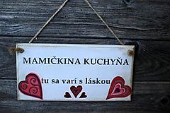 Dekorácie - Doštička Mamičkina kuchyňa - 9784482_