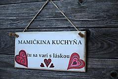 Dekorácie - Doštička Mamičkina kuchyňa - 9784483_