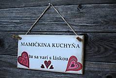 Dekorácie - Doštička Mamičkina kuchyňa - 9784484_