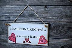 Dekorácie - Doštička Mamičkina kuchyňa - 9784486_