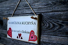 Dekorácie - Doštička Mamičkina kuchyňa - 9784487_