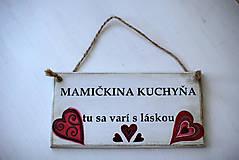 Dekorácie - Doštička Mamičkina kuchyňa - 9784488_