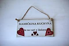 Dekorácie - Doštička Mamičkina kuchyňa - 9784489_