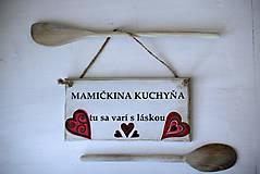 Dekorácie - Doštička Mamičkina kuchyňa - 9784491_