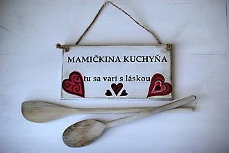 Dekorácie - Doštička Mamičkina kuchyňa - 9784490_