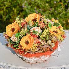 Dekorácie - Košík so žltými anemonkami - 9784374_