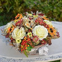 Dekorácie - Košík s ružami - 9784910_