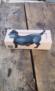 Krabičky - Krabička na čaj s mačkou - 9785813_