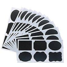 Papier - NA114 Nálepky čierne (6 kusov) 4 x 3 cm - 9784207_